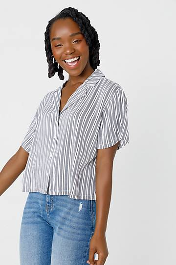 Stripe Resort Boxy Shirt