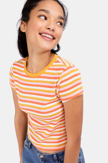 Stripe Fitted T-shirt