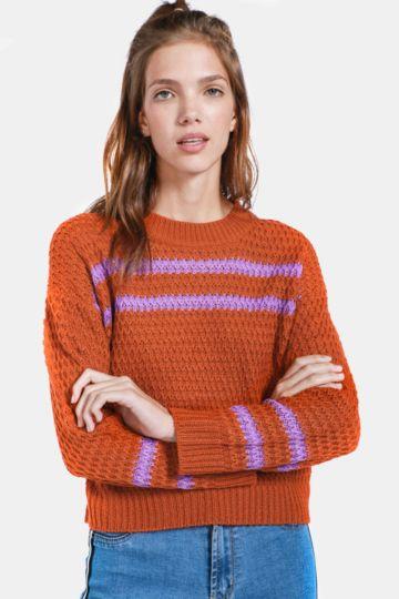 Stripe Boxy Pullover
