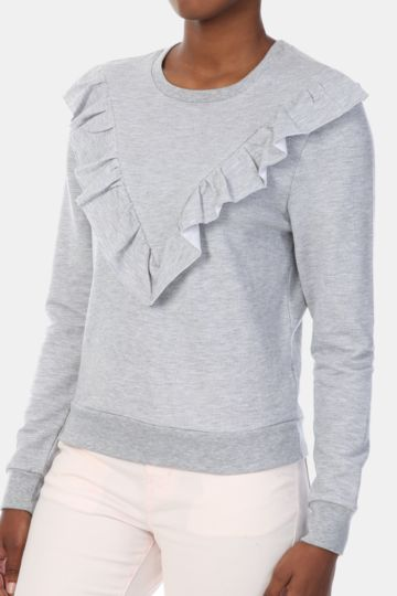 Ruffle Sweat Top