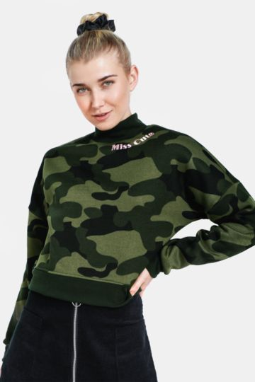 Camo Statement Active Top