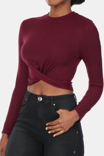 Twist Front Crop Top- Click For More Colours