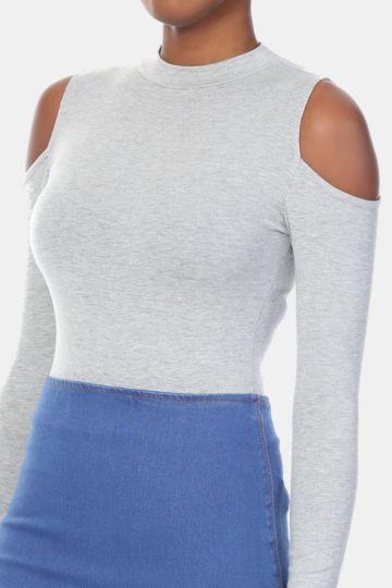 Bare Shoulder Bodysuit