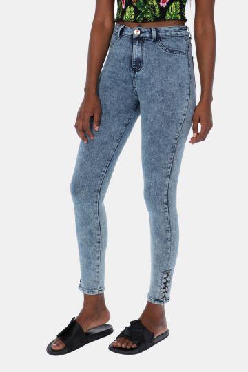 Lace Up Denim Jeans