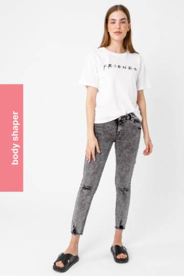Abraised Skinny Jeans