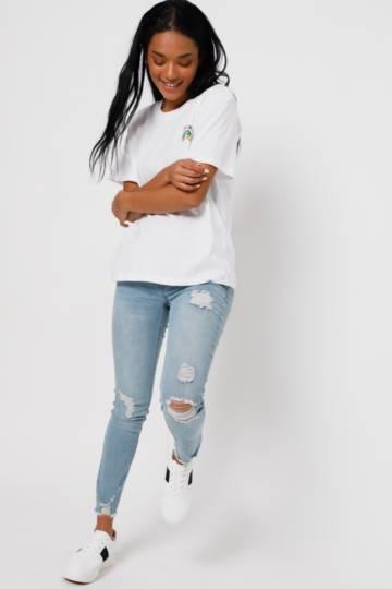 Abraised Skinny Jeans