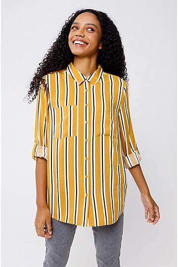 Stripe Slouchy Shirt