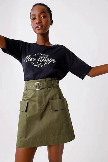 Utility A-line Mini Skirt