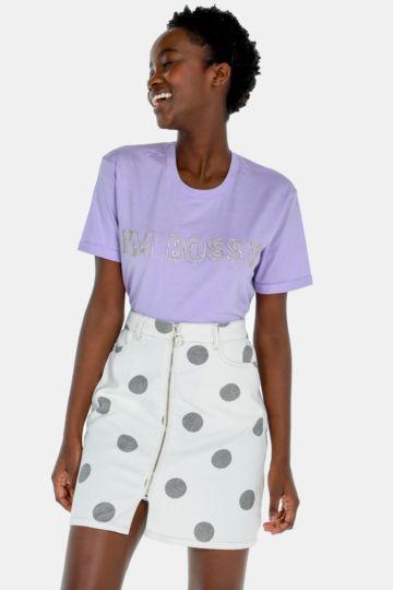 Polka Dot A-line Skirt