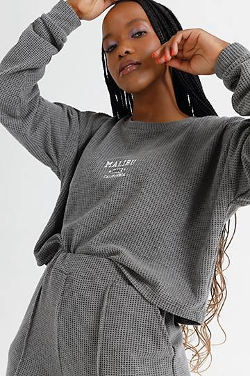 Waffle Textured Pullover