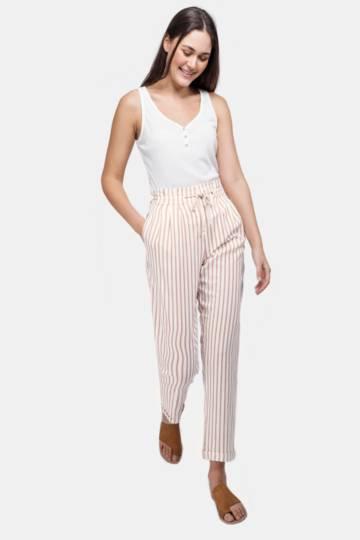 Stripe Paperbag Pants