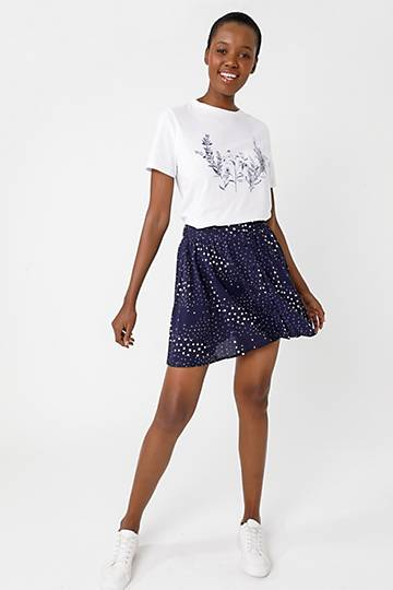 Pattern Mini Skirt
