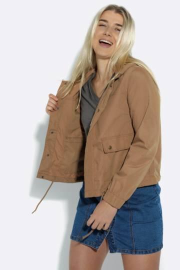 Cropped Parka Jacket