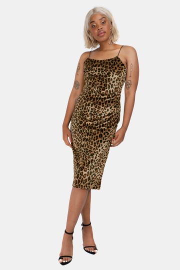 Animal Print Velour Dress