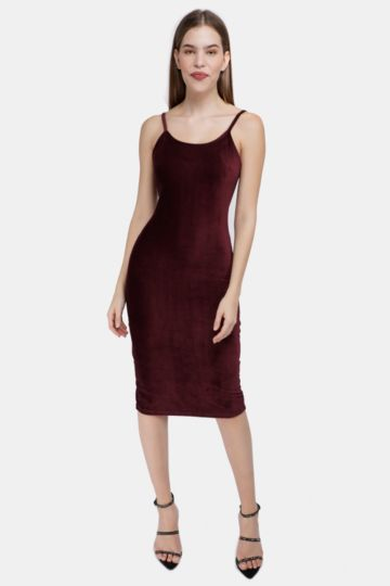 Velour Bodycon Dress
