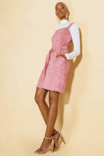 Belted Pinafore Dress