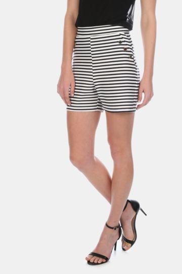 Stripe High Waisted Shorts