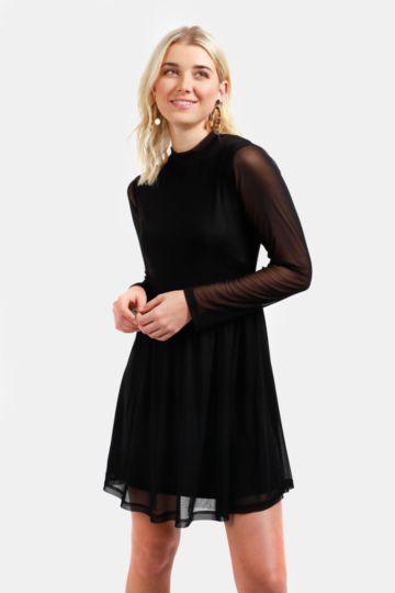 Mesh Skater Dress
