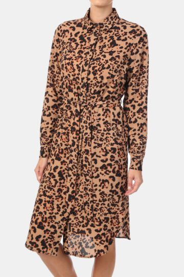 Animal Shirt Dress