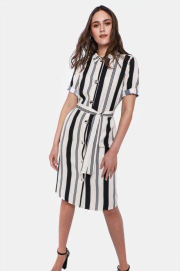 042f9cbcc420 ... Shop Ladies; Oakridge Formal. Stripe Shirt Dress