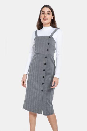 790ff221343c ... Shop Ladies; Oakridge Formal. Check Pinafore Dress