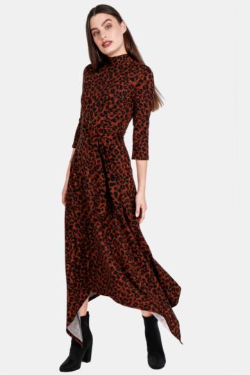 c0406a4d10 Animal Print Fit And Flare Dress
