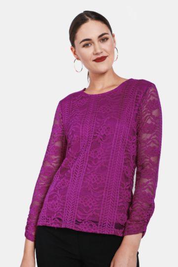 49c69e00006 Lace Long Sleeve Top