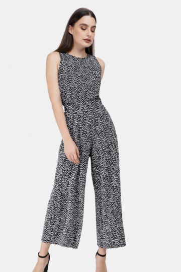 Pleated Polka Dot Culotte