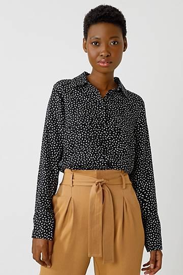 Pattern Slouchy Shirt