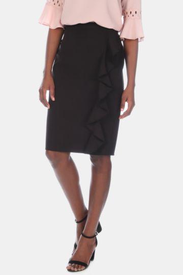 Ruffle Pencil Skirt