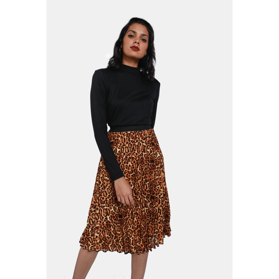 0baed009f5 Animal Print Pleated Skirt - Ladies New In - What s New