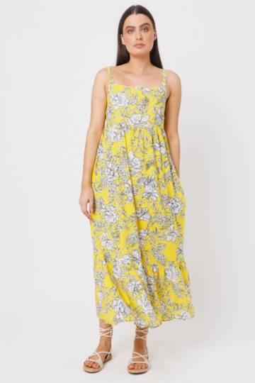 Floral Trapeze Dress