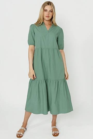Poplin Trapeze Dress