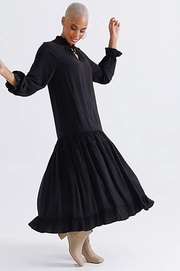 Trapeze Drop Waist Dress