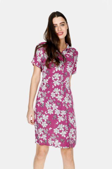 2b2a37003d9 Floral Shirt Dress