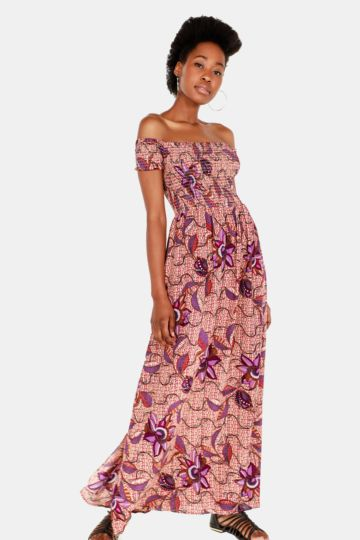 Floral Off Shoulder Dress