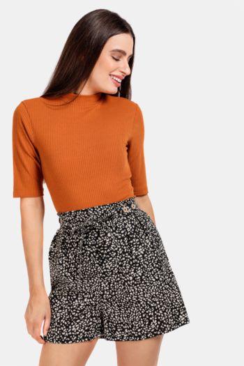 Spot Print Shorts