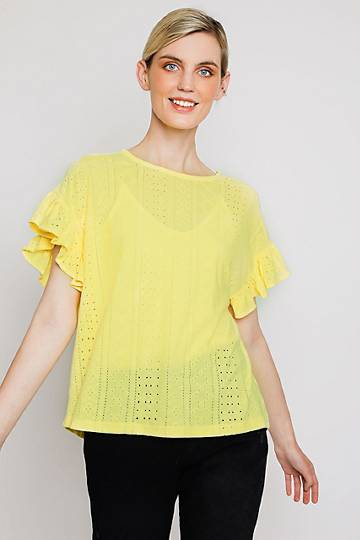 Anglaise Batwing Top
