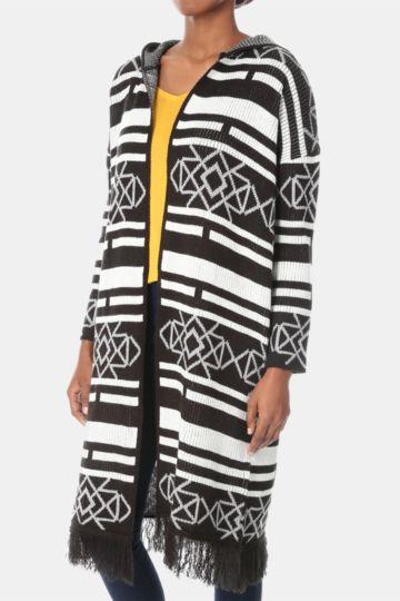 Aztec Longer Length Cardigan