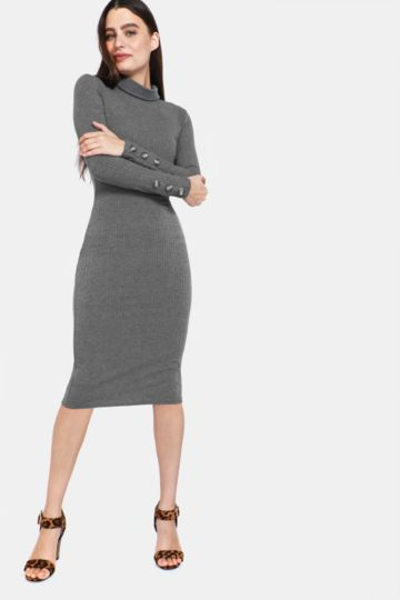 491f1b748a8 Polo Neck Bodycon Dress