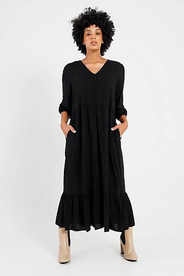 Woven Trapeze Dress
