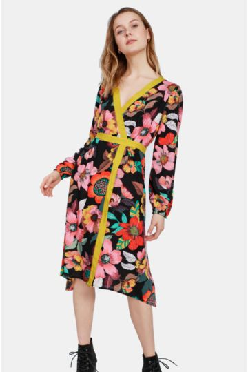 9a5f09a9cbc Floral Wrap Dress