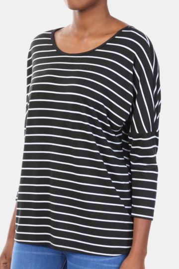 Stripe Slouchy Top