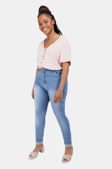 High Waisted Skinny Fit Denim Jeans
