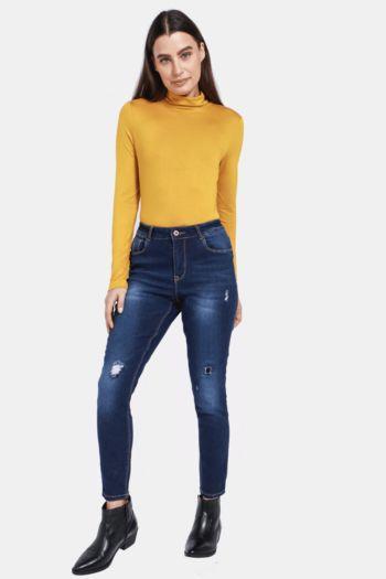 Skinny Abraised Jeans