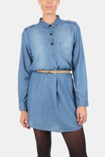Longer Length Denim Shirt
