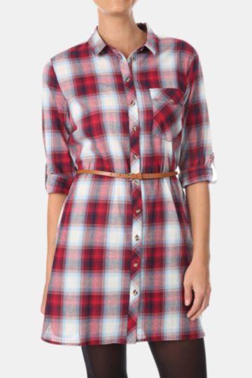 Longer Length Gingham Shirt