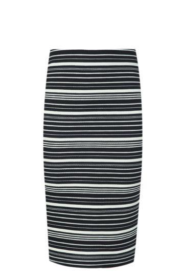 Stripe Bodycon Skirt