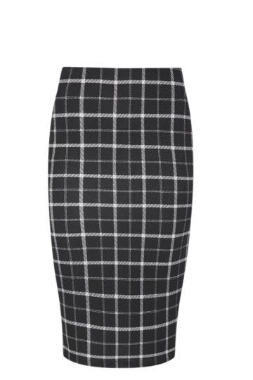 Check Bodycon Skirt