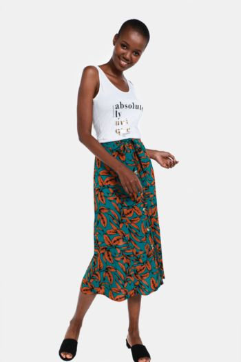 Tropical Midi Skirt
